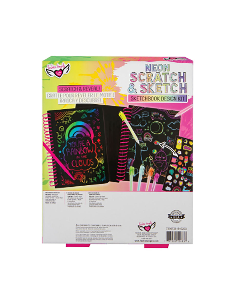 Fashion Angels Neon Scratch Sketch Notebook