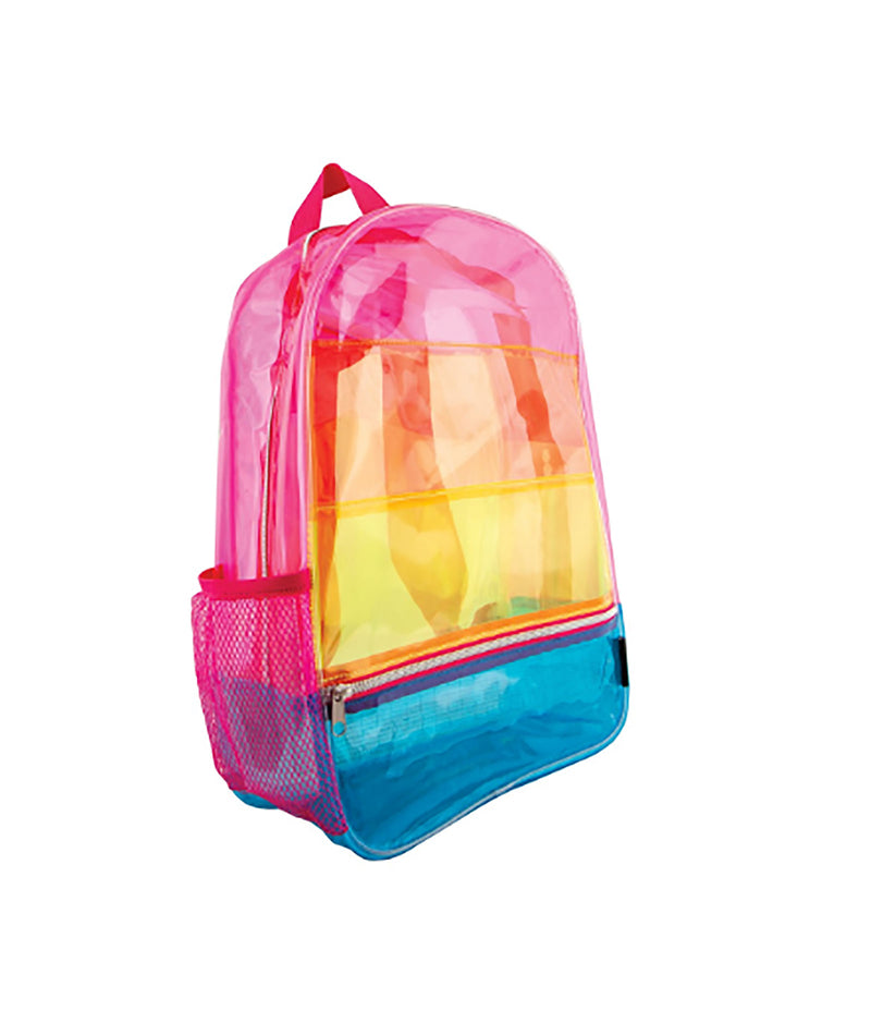 Fashion Angels Transparent Rainbow Backpack