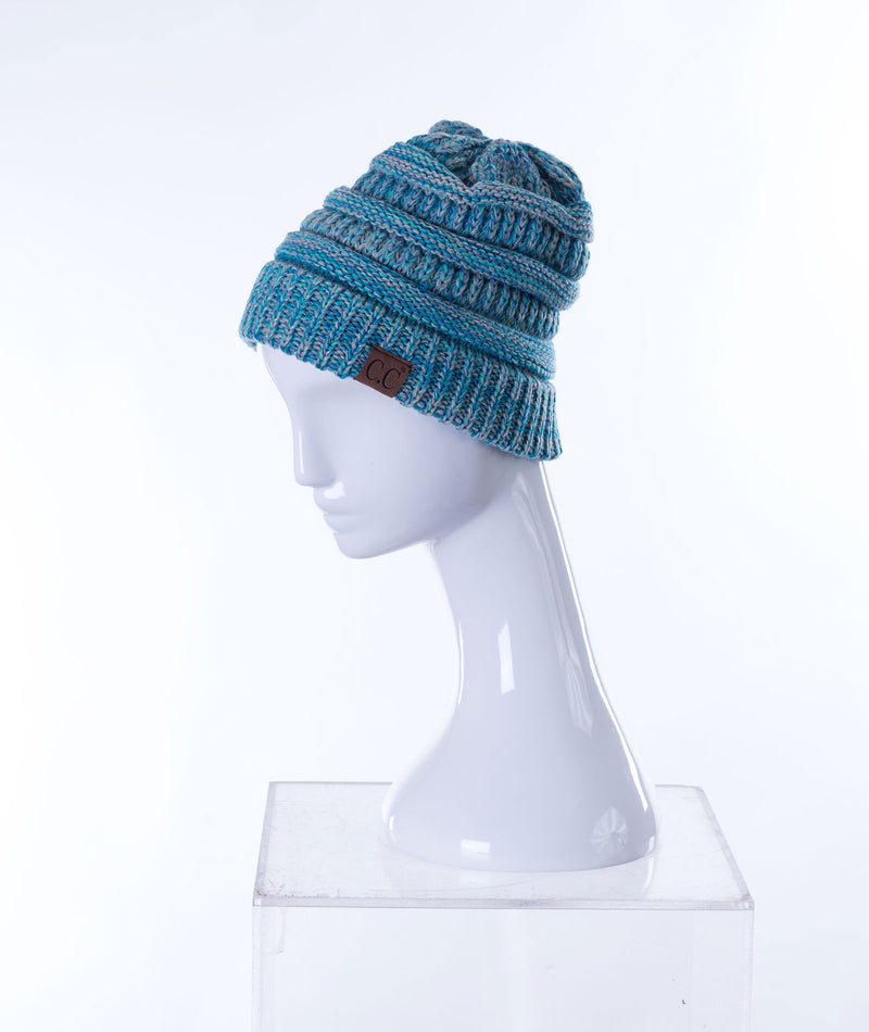 Fashionista J CC Blue Knitted Hat - Frankie's on the Park