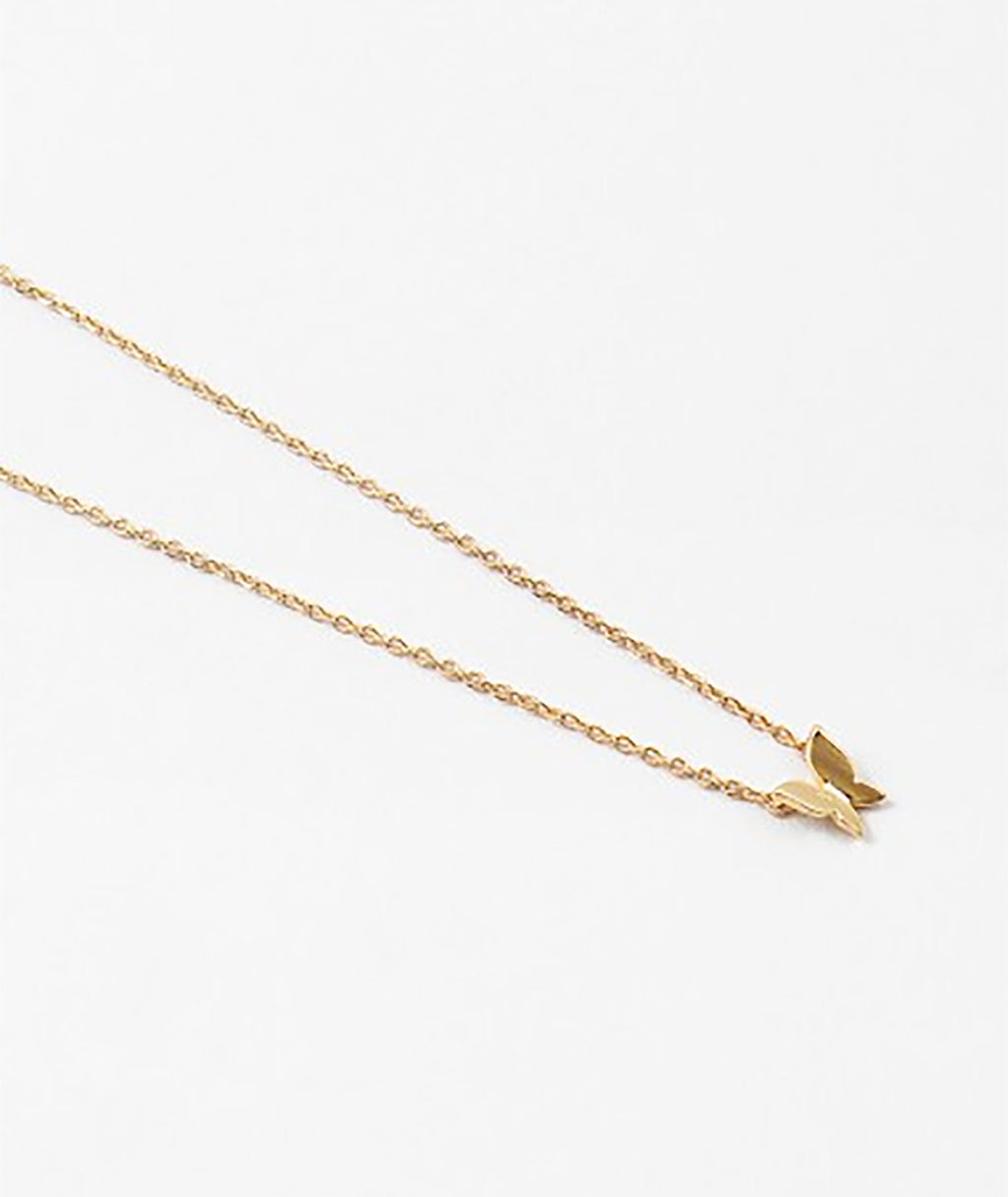 Fashionista J Gold Butterfly Necklace