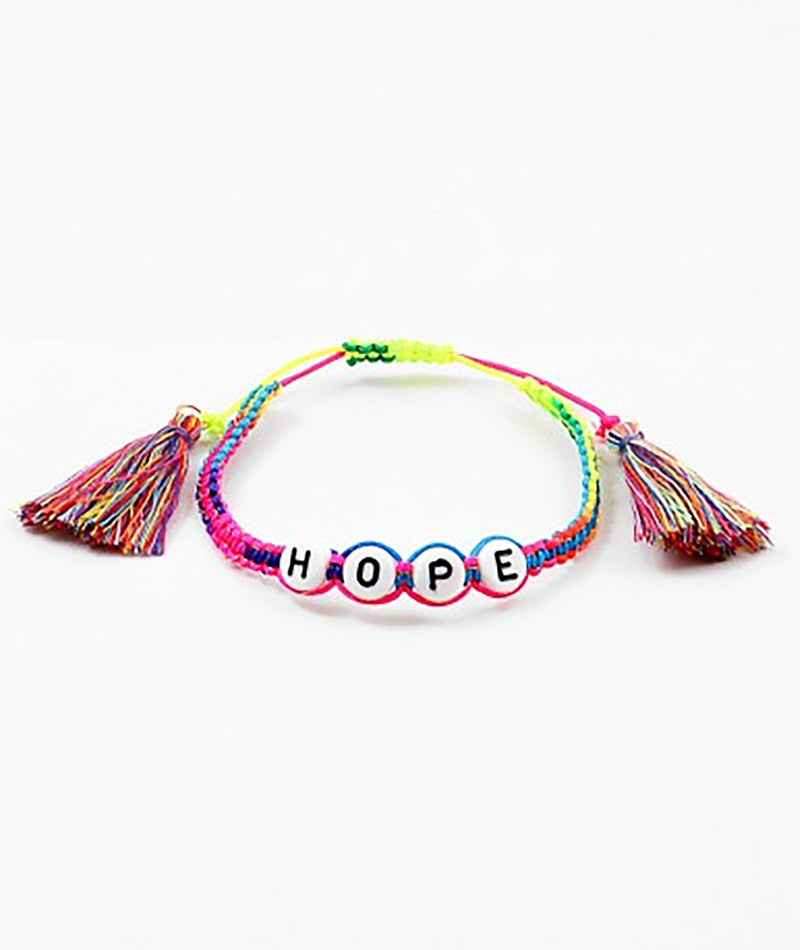 Fashionista J Neon Rainbow Hope Bracelet