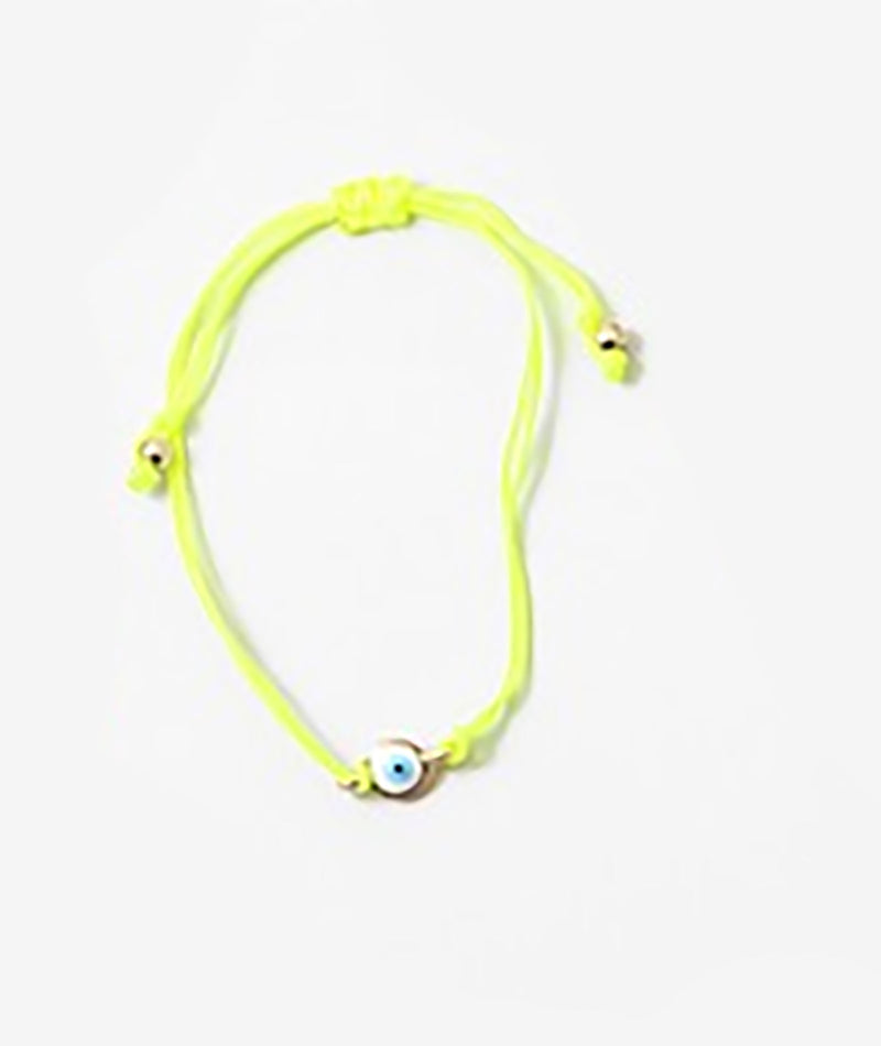 Fashionista J Neon Yellow Evil Eye Bracelet