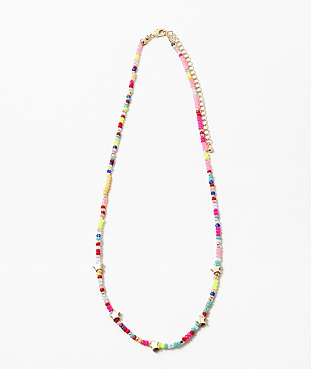 Fashionista J Neon Rainbow Stars Necklace