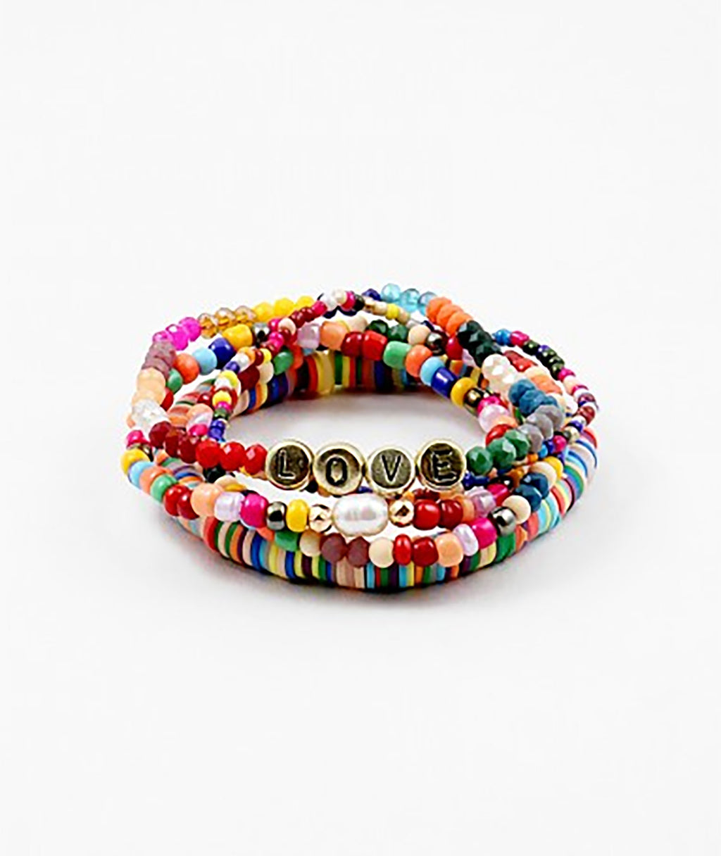Fashionista J Rainbow Love Bracelet
