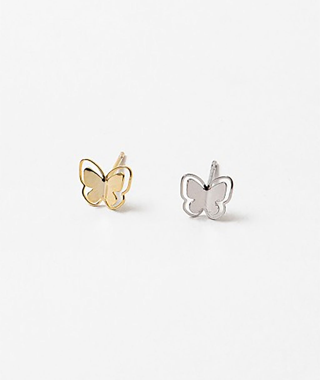 Fashionista J Silver Butterfly Earrings