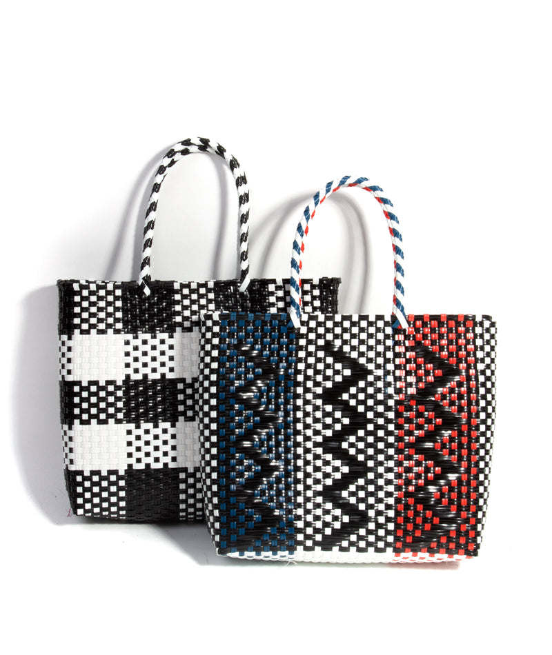 Fashionista J Red, White, & Blue Woven Tote