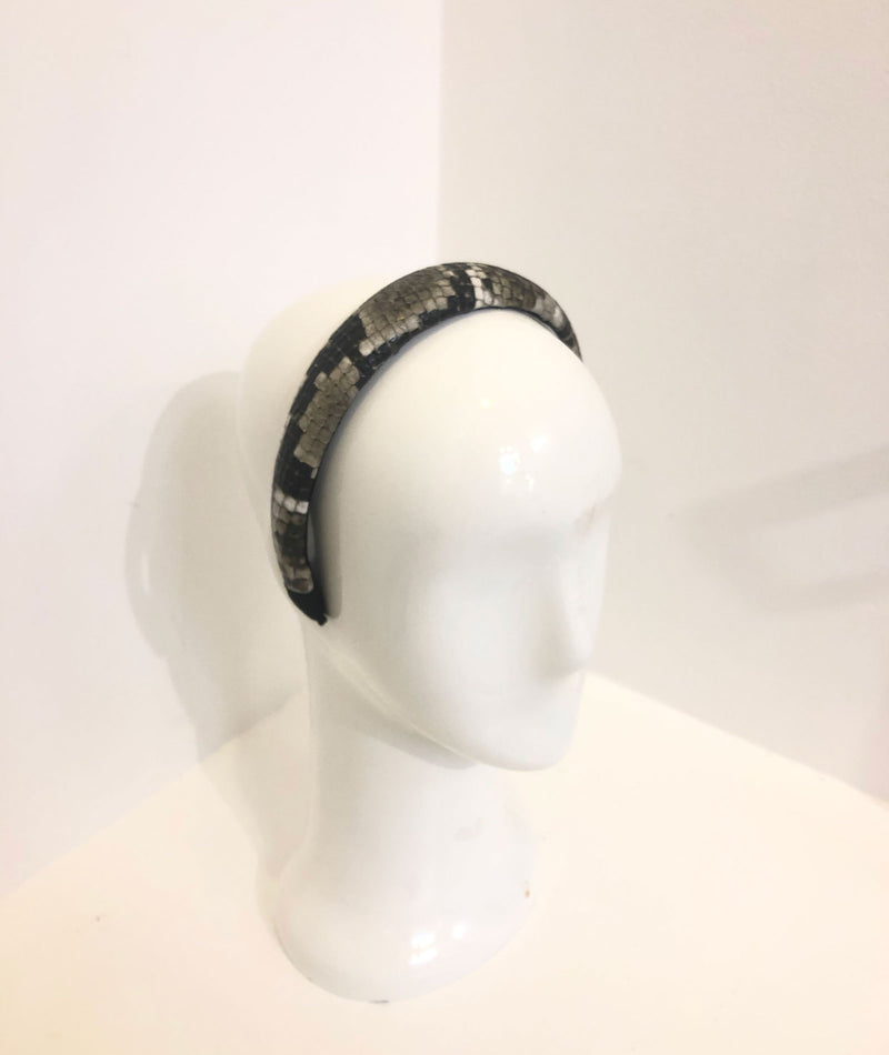 Fashionista J Snake Leather Headband