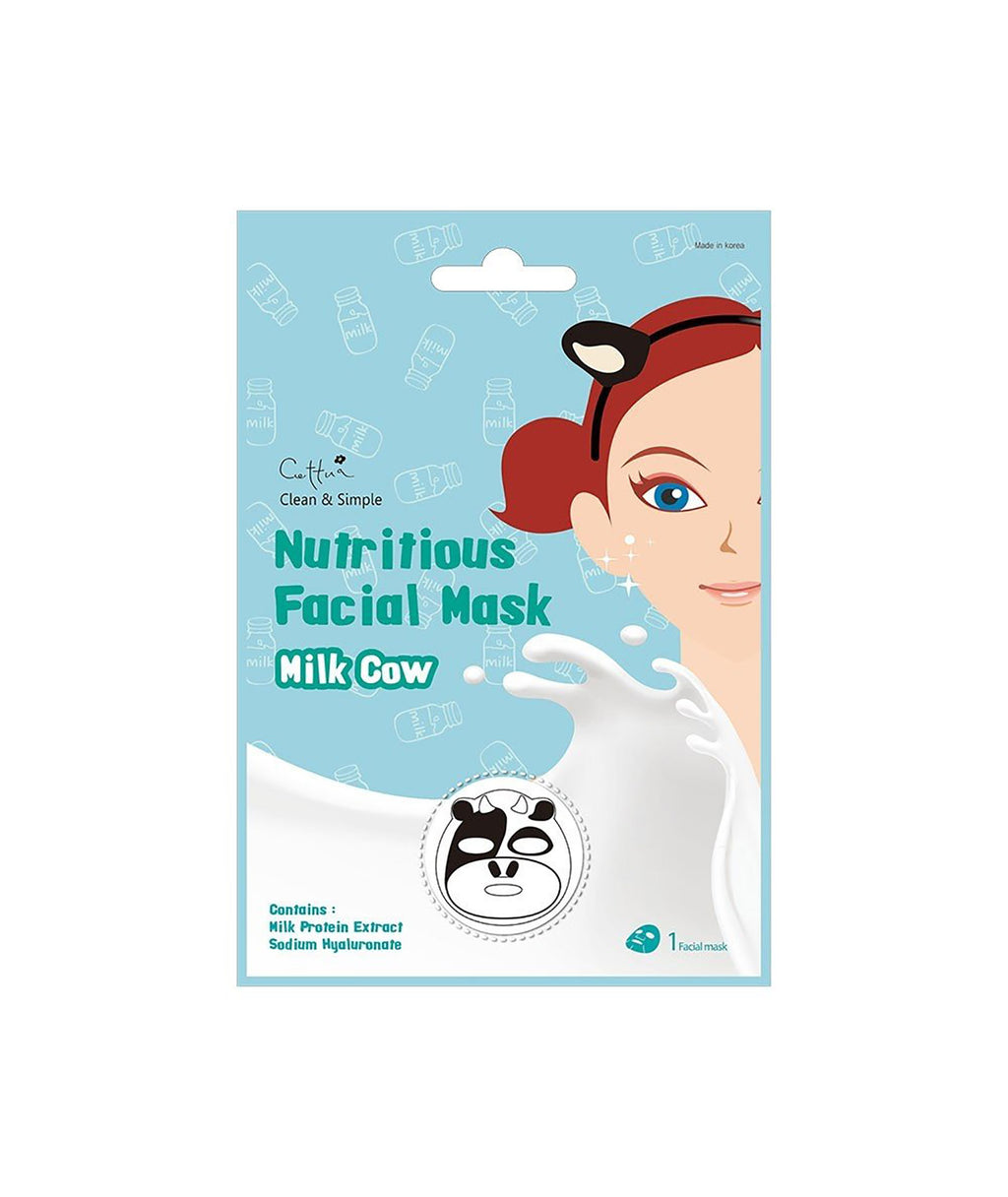 Fashionista J Cow Face Mask