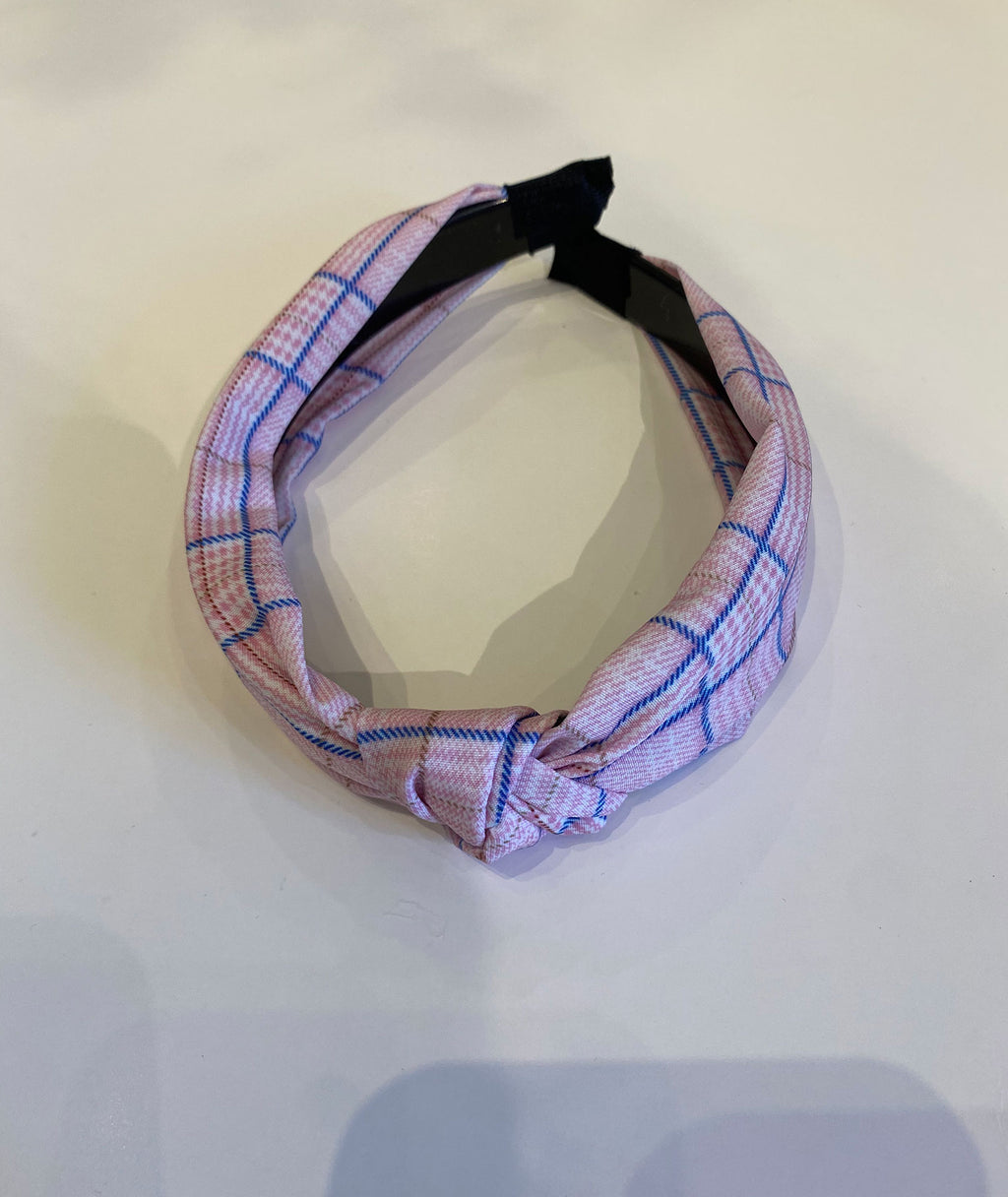 Fashionista J Plaid Knotted Headband