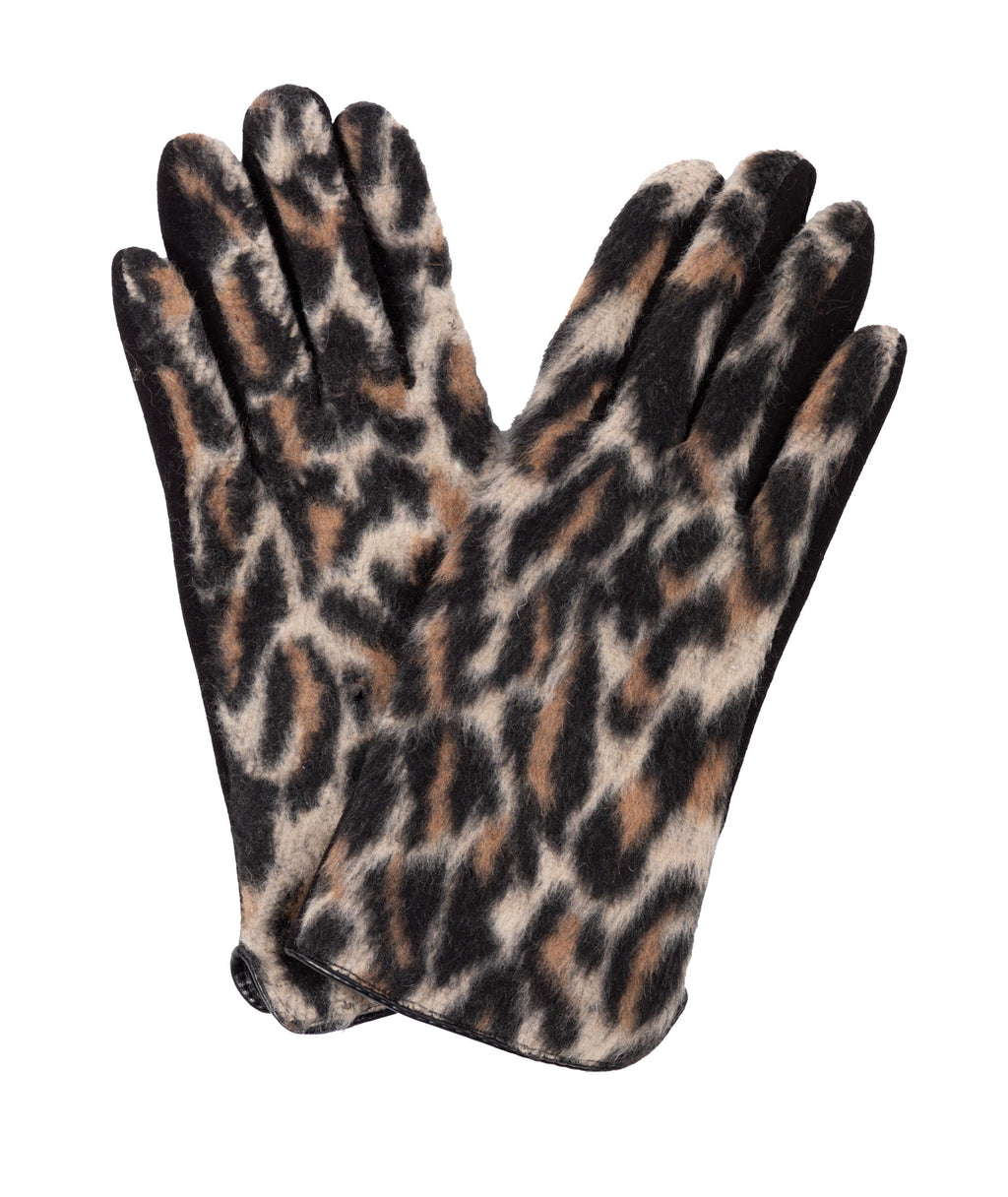 Fashionista J All Over Cheetah Gloves