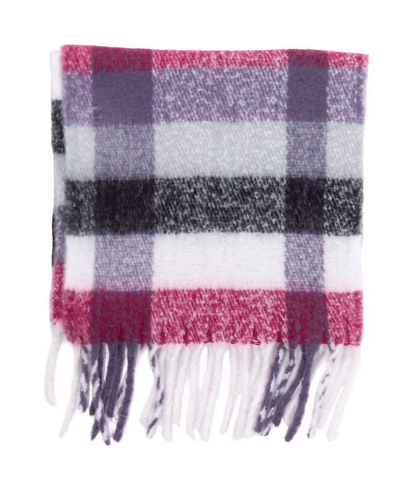 Fashionista J Black Plaid Scarf