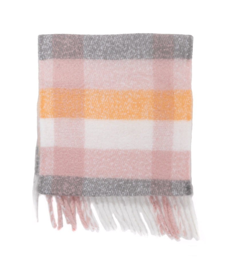 Fashionista J Pink Plaid Scarf