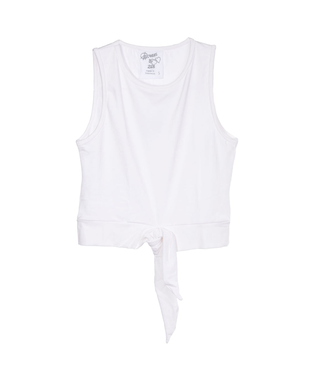 Flowers by Zoe Girls White Tie Tank