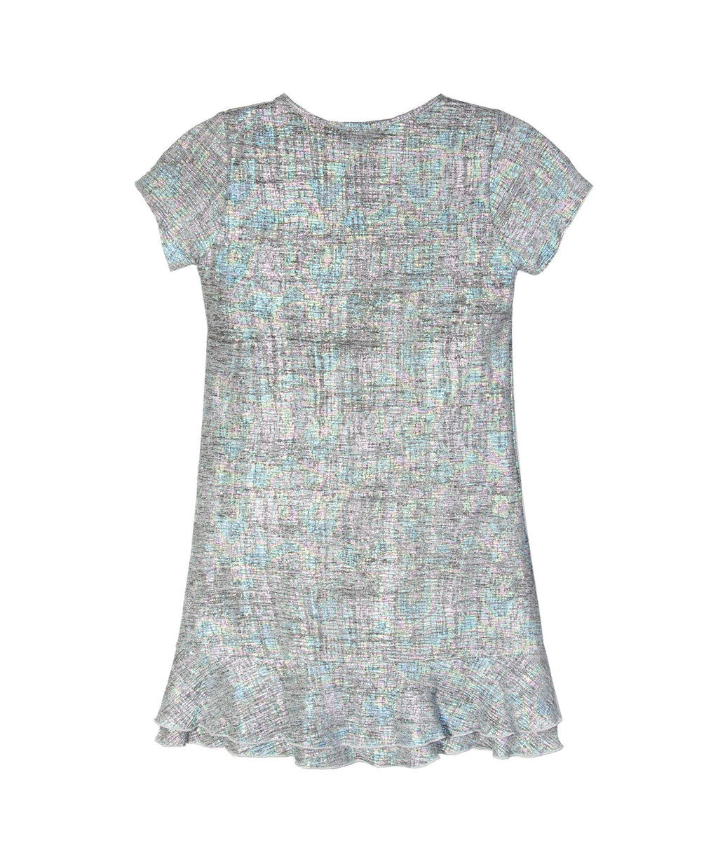 Flowers By Zoe Girls Grey Rainbow Dress