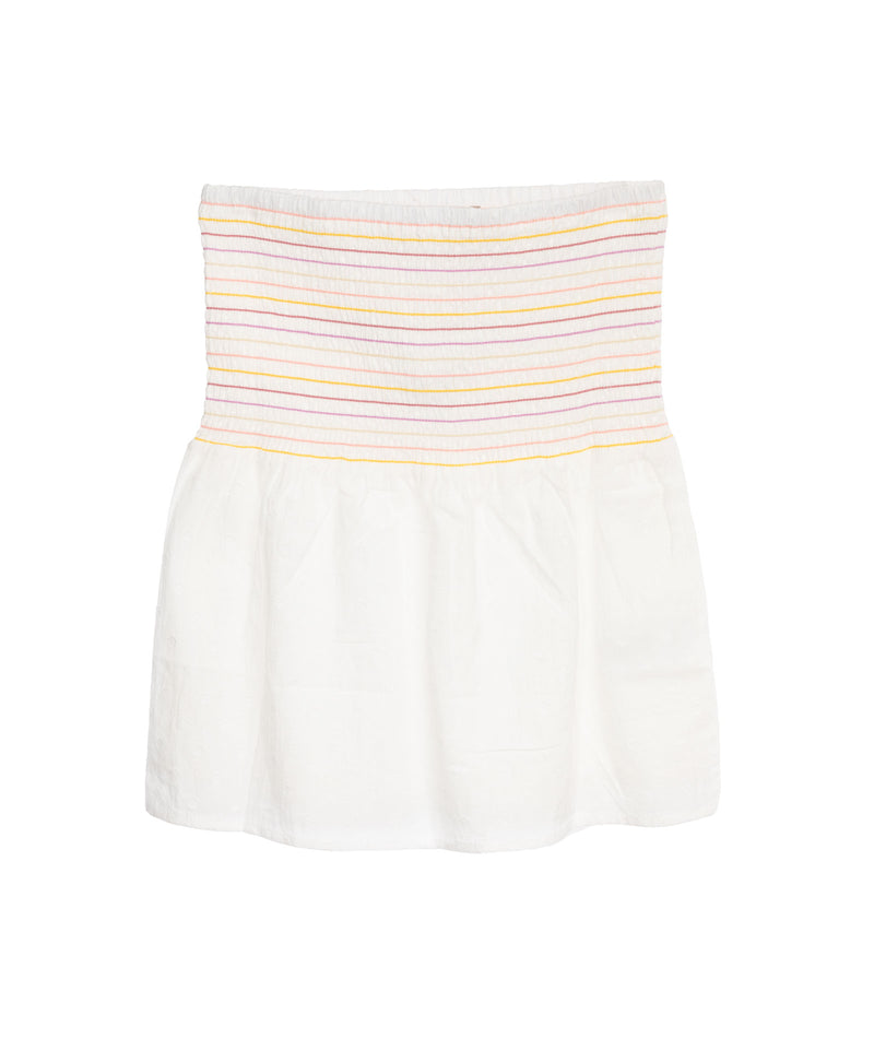 For All Seasons Girls Ivory Smock Stripe Skirt