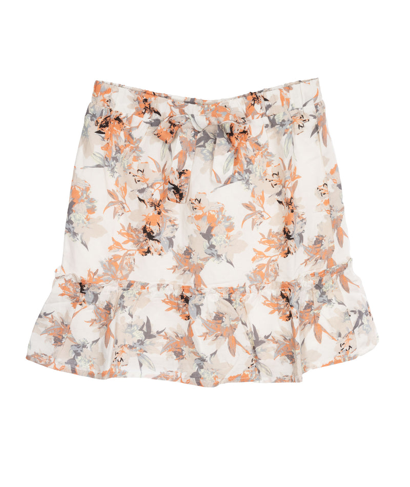 For All Seasons Girls Ivory Floral Skirt
