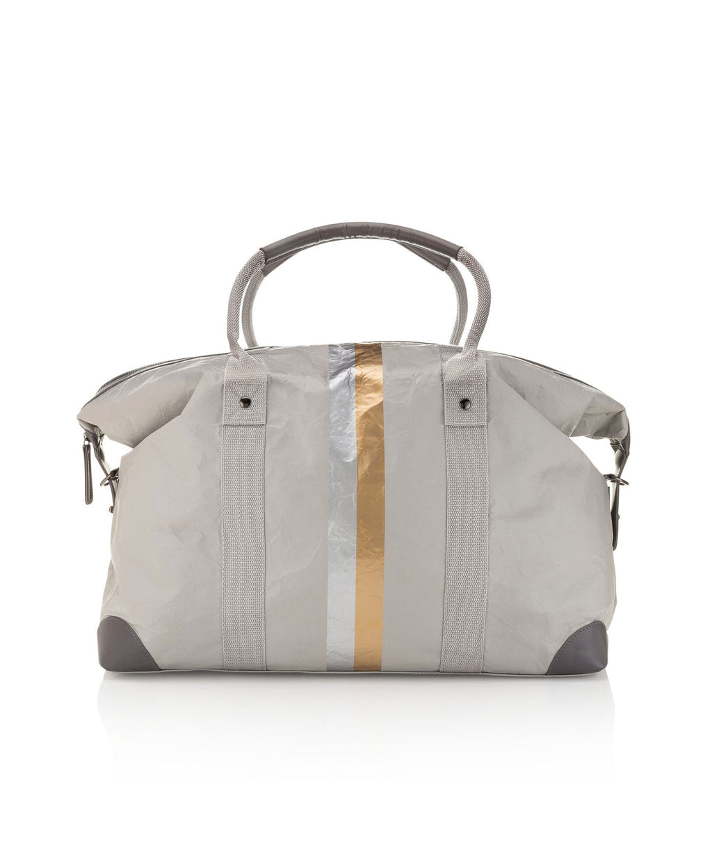 HI Love Travel Grey Double Line Weekender