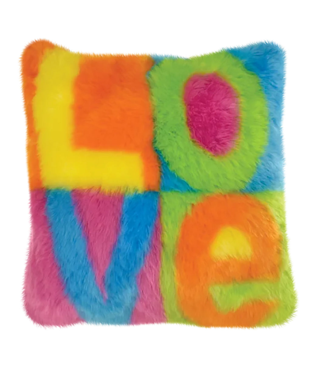 iScream Furry Love Color Block Pillow