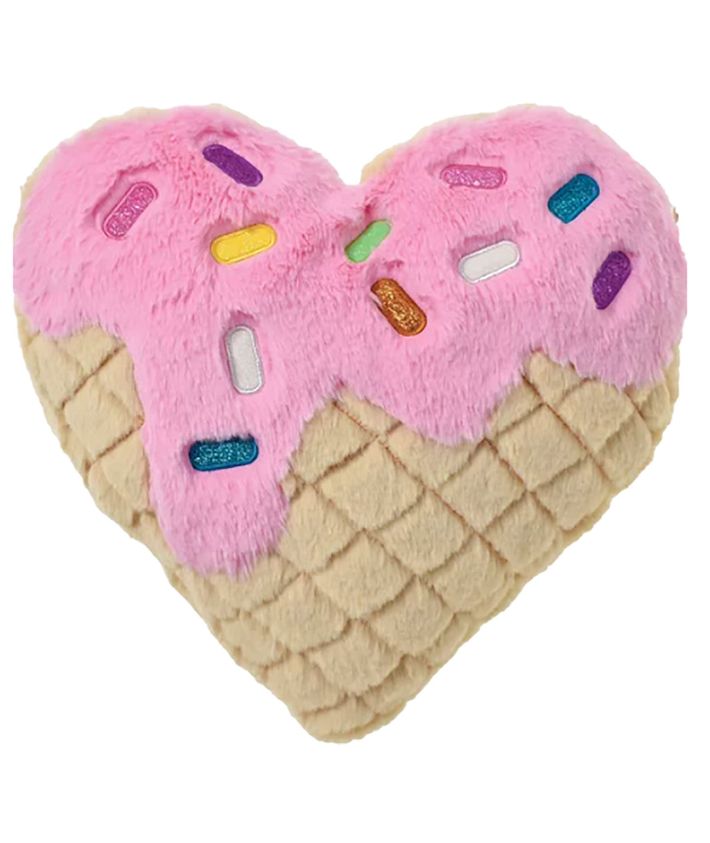 iScream Waffle Heart Pillow
