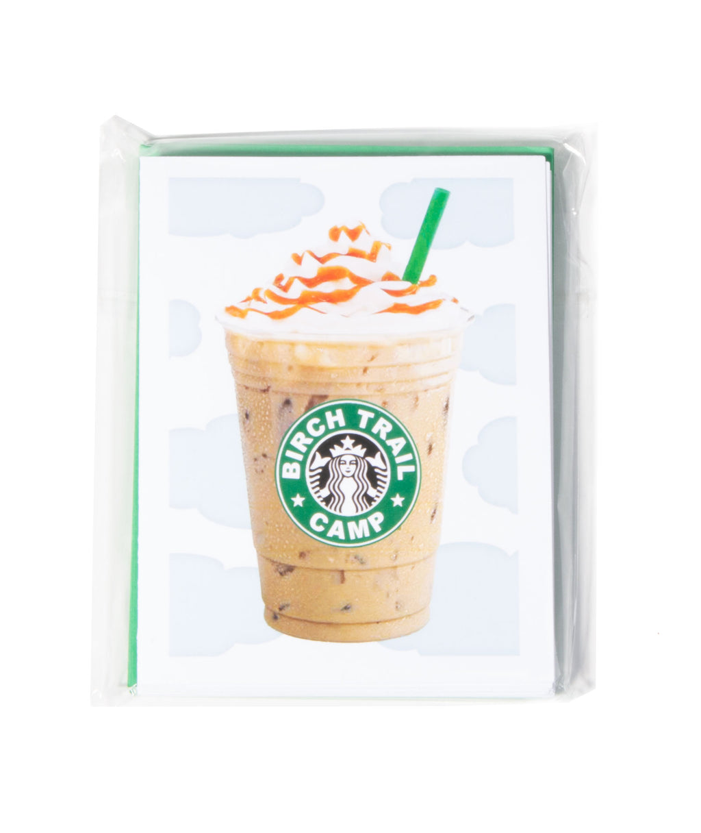 Pack of 10 Cards Camp Name Latte