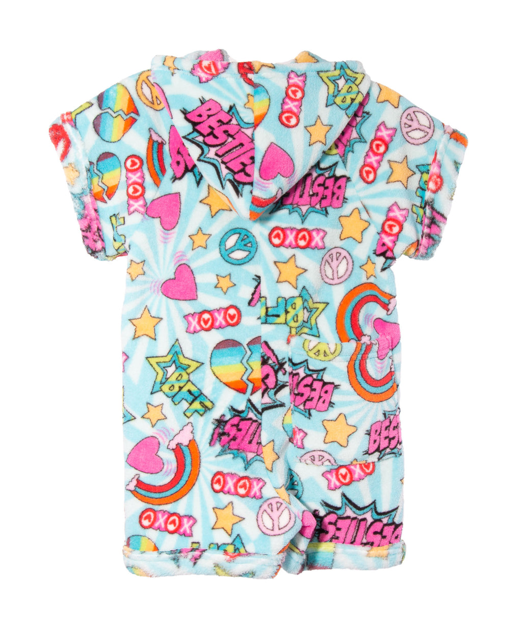 Made with Love and Kisses Girls Besties Romper