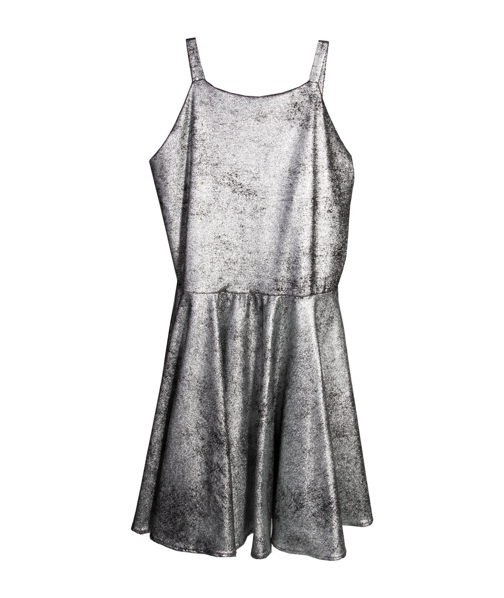 By Debra Girls Sleeveless Black/ Silver Dress