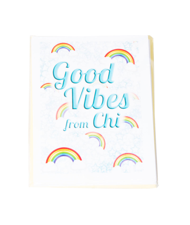 Pack of 10 Cards Camp Name Good Vibes