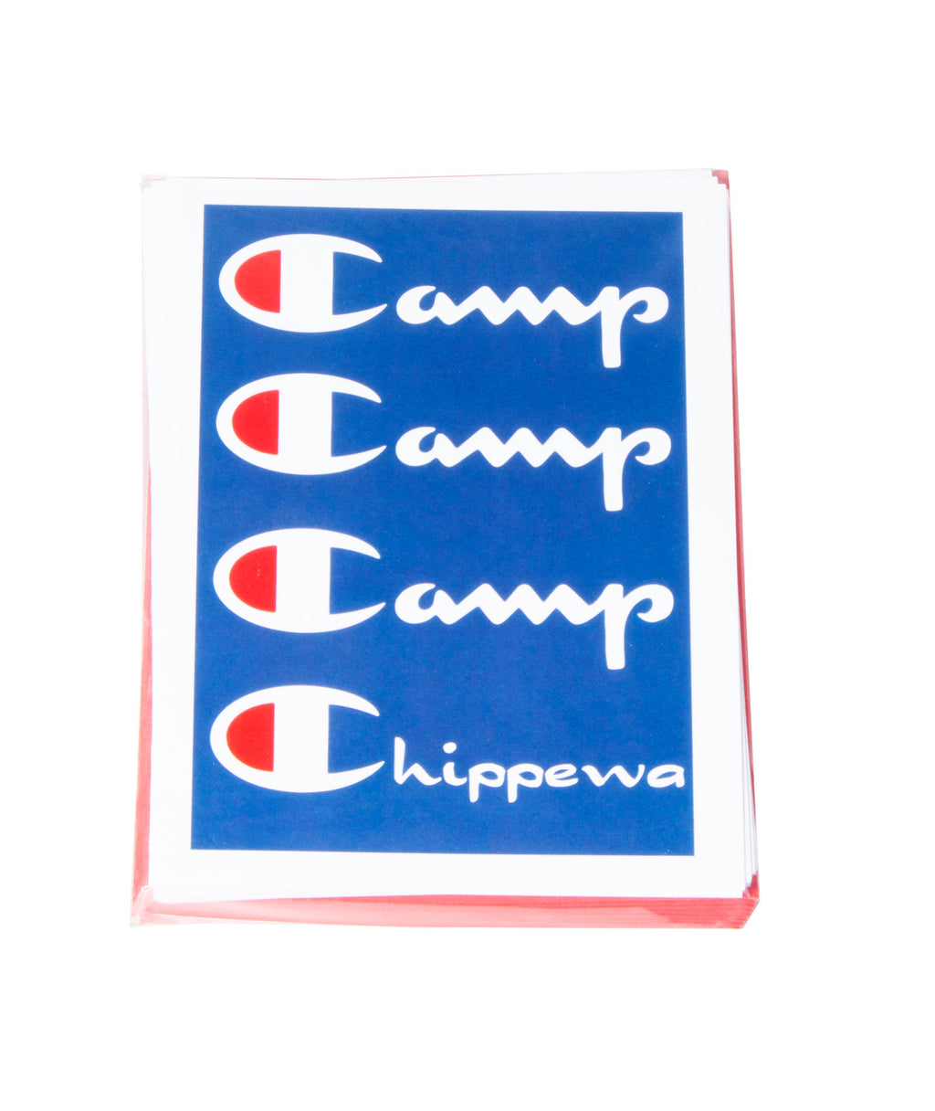 Pack of 10 Cards Camp Name Champion
