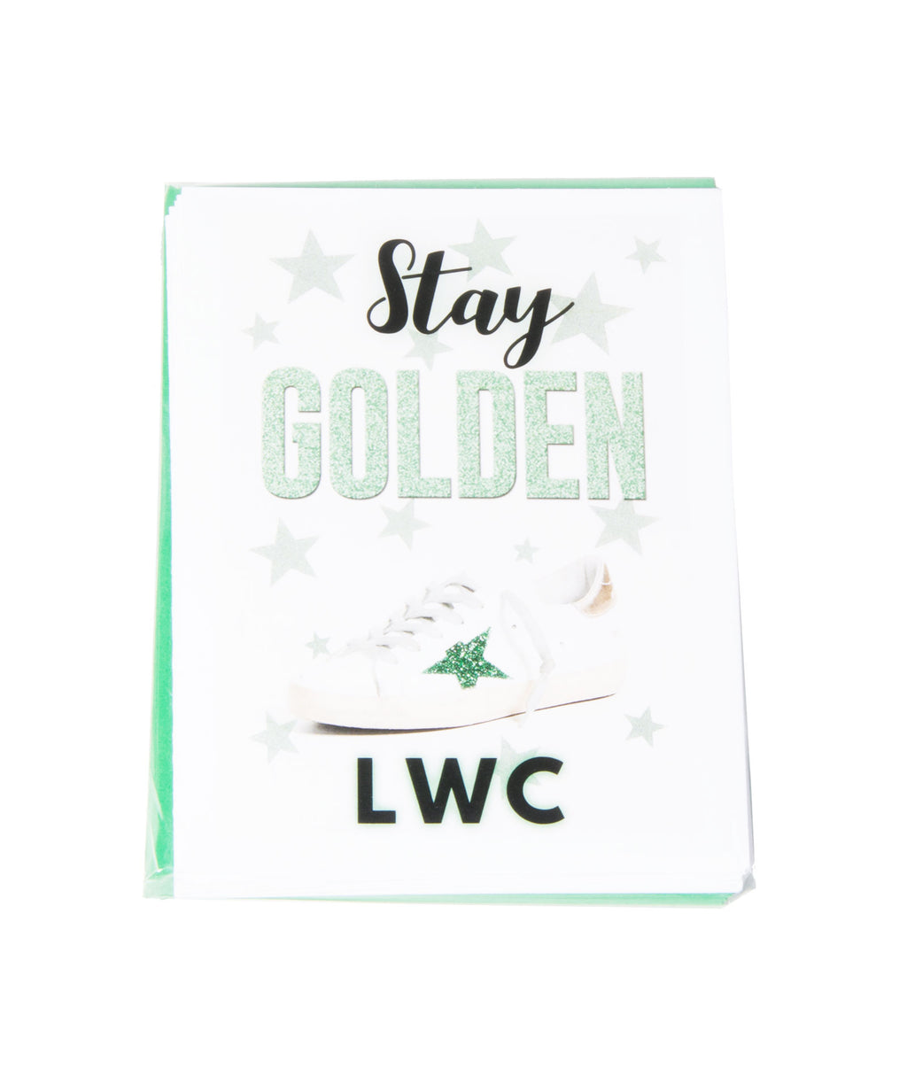 Pack of 10 Cards Camp Name Stay Golden