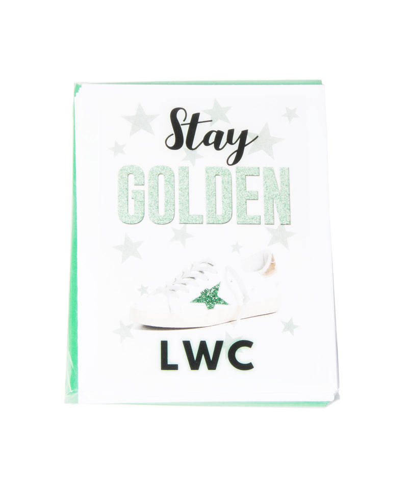 Staci-Nary Pack of 10 Cards Camp Name Stay Golden
