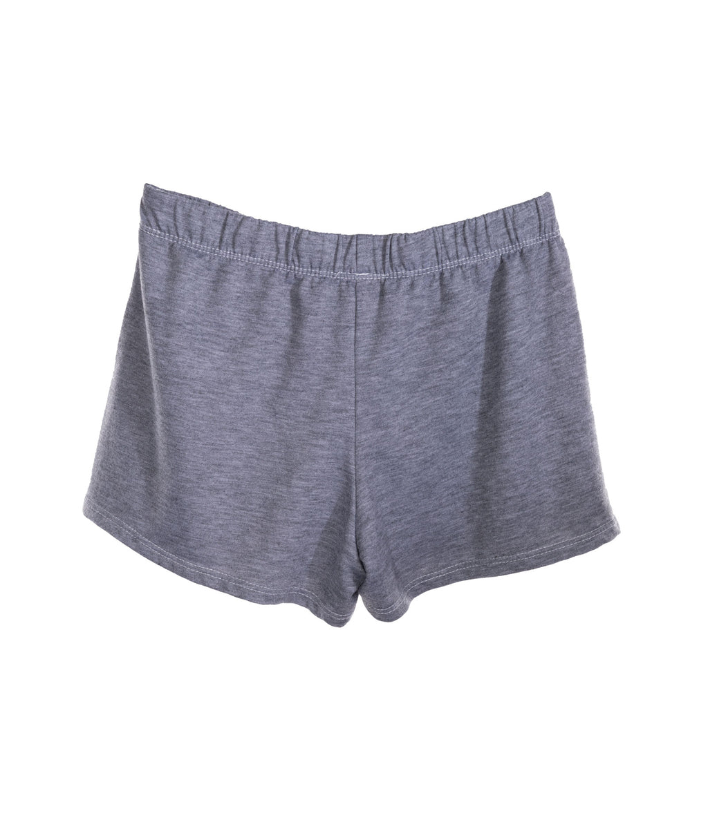 Small Pink Heart Shorts Heather Grey