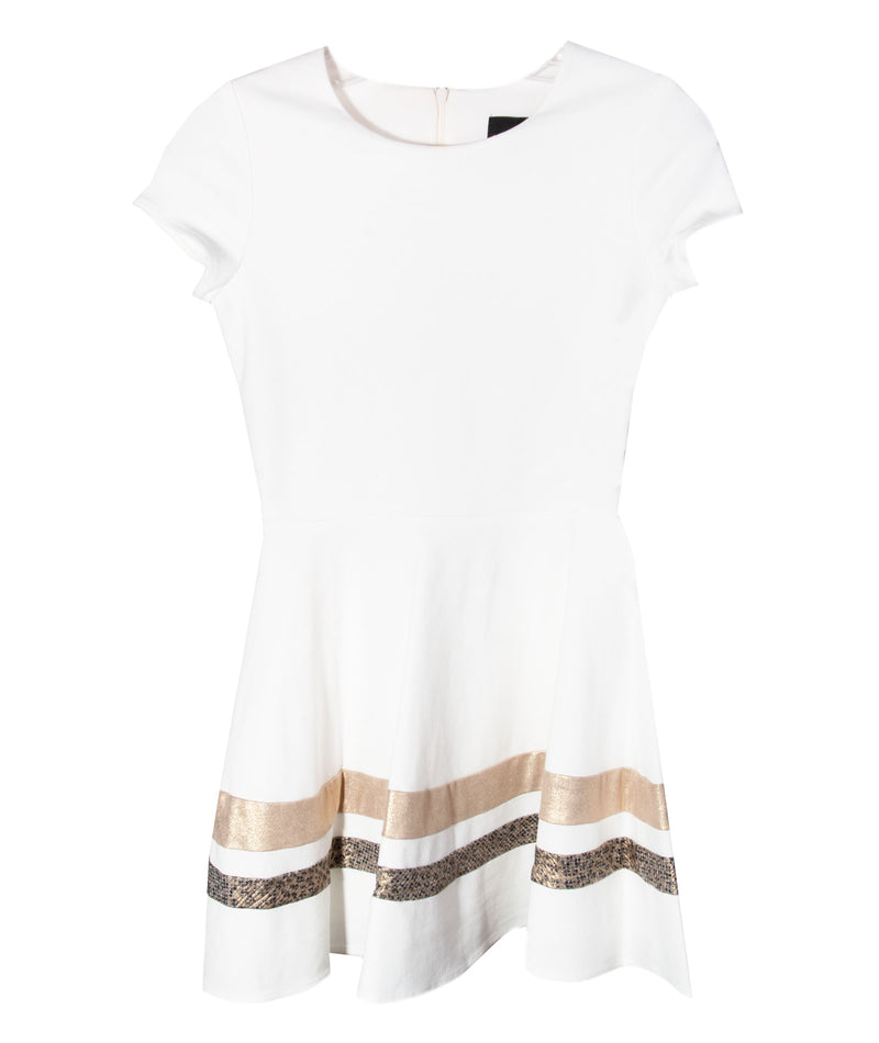 By Debra Girls Ivory Cap Sleeve Dress