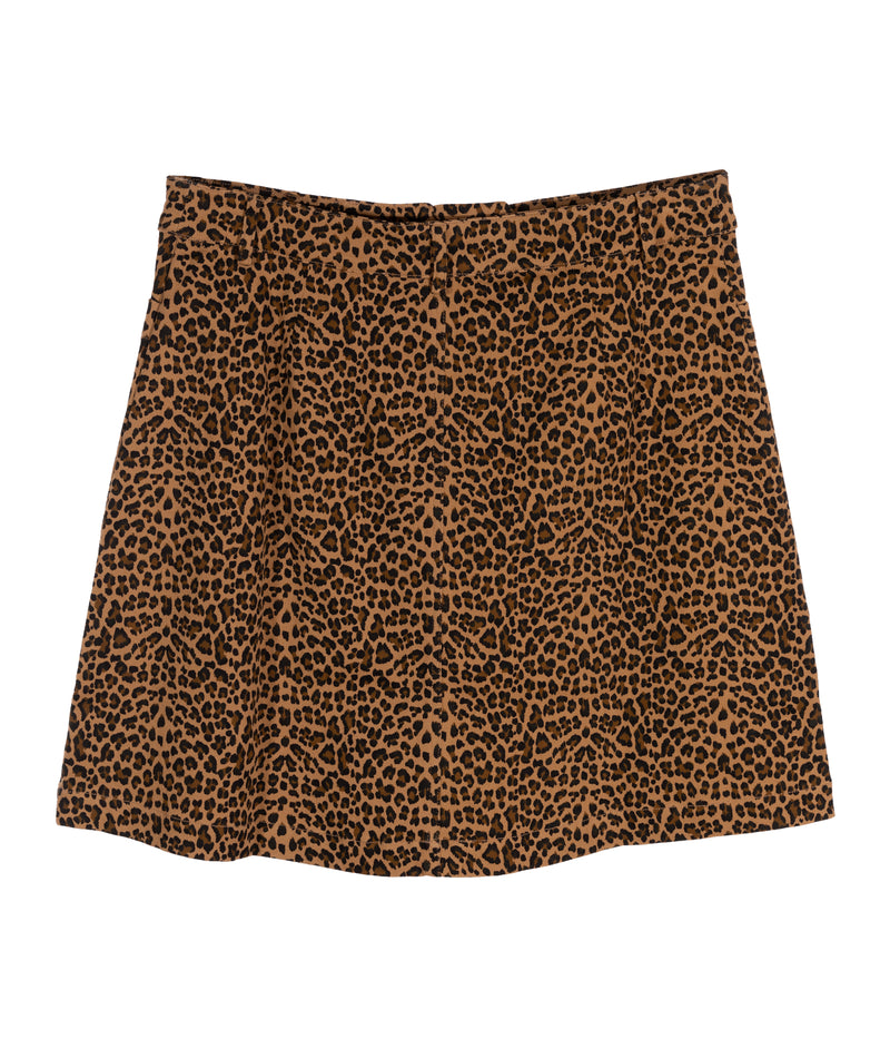 Sassy Spotty Leopard Zip Skirt Women
