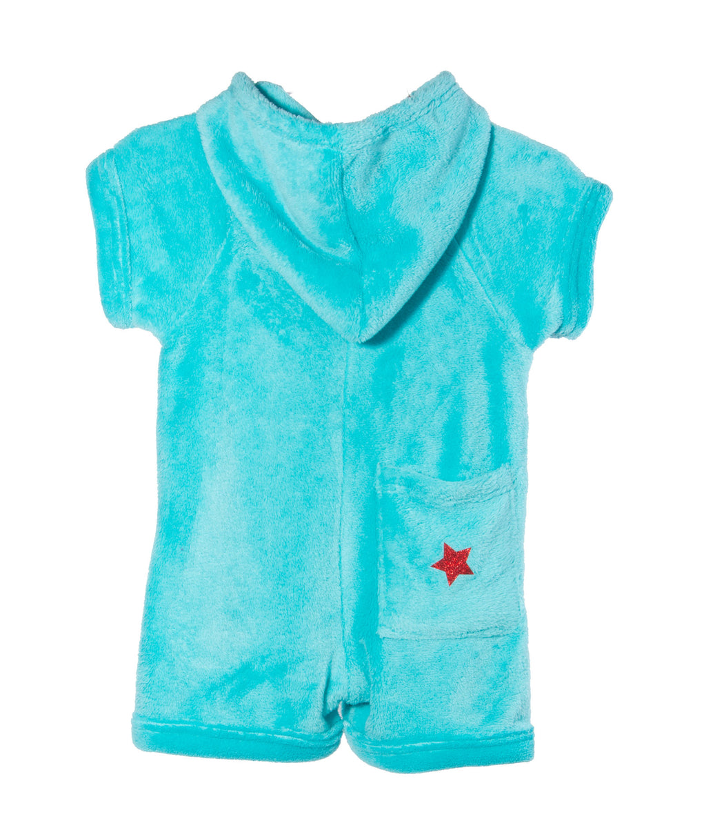 Made with Love and Kisses Star Turquoise Romper