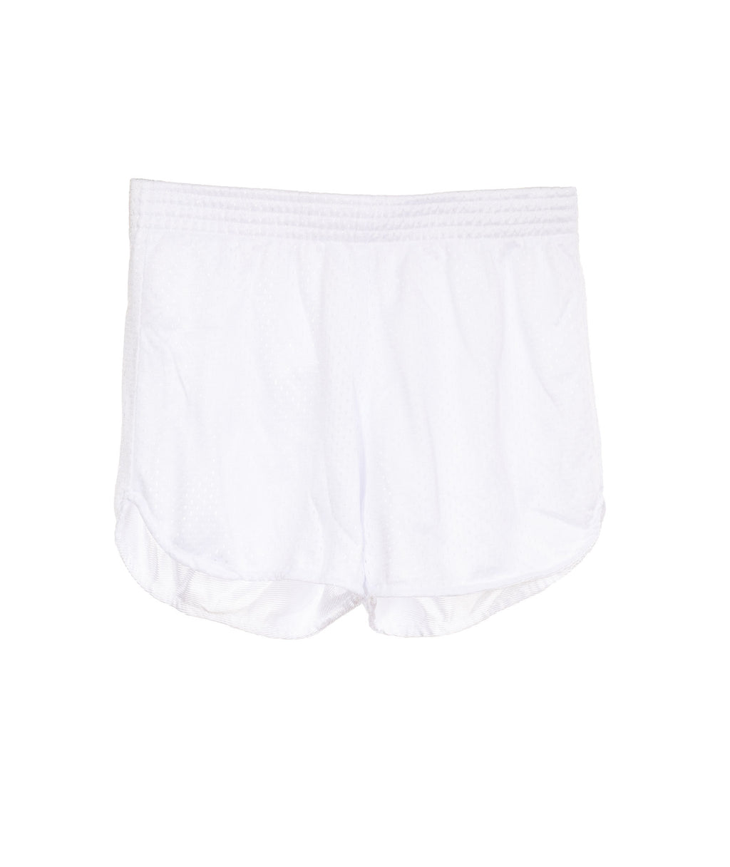 So Nikki Girls White Mesh Shorts