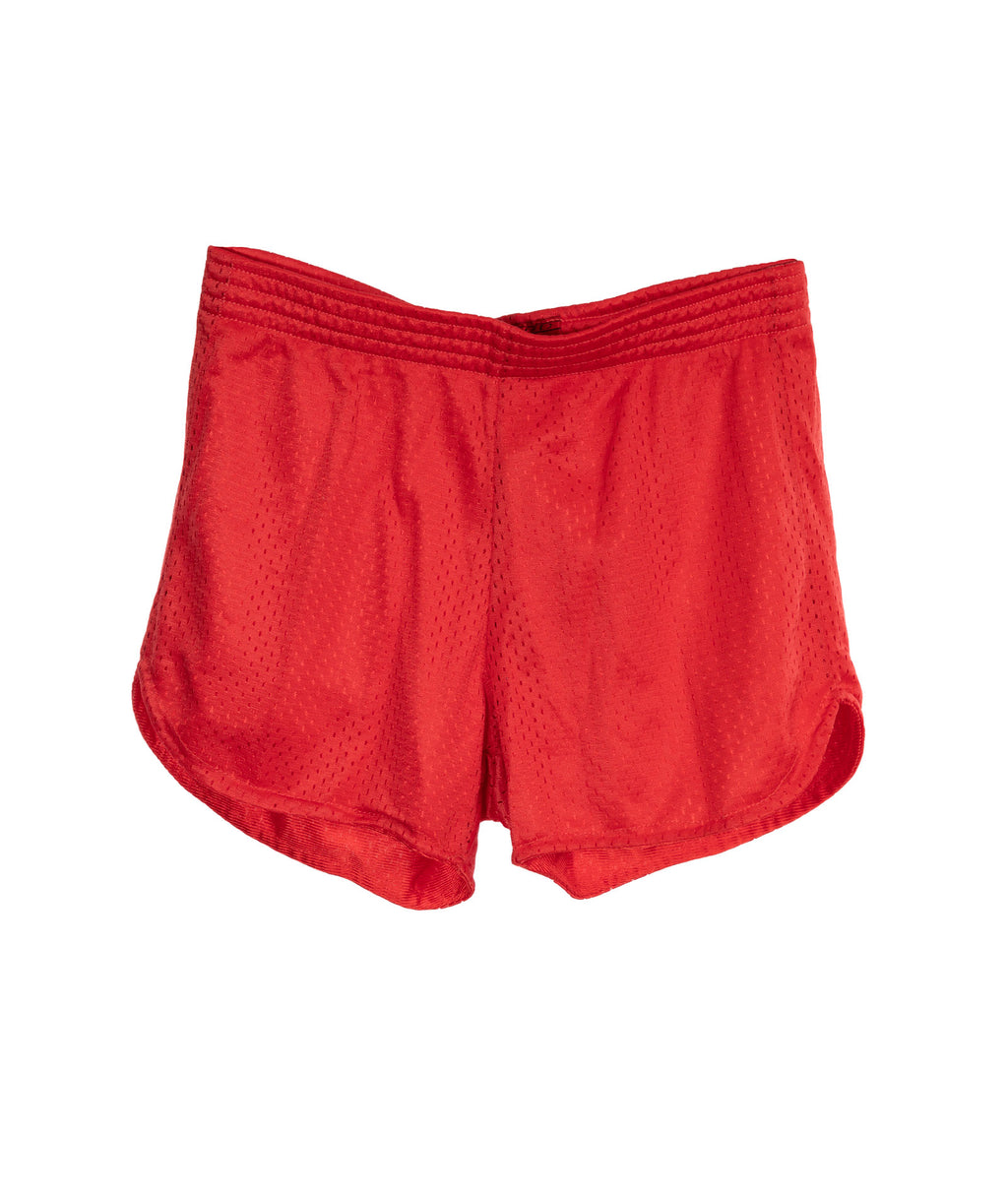 So Nikki Girls Red Mesh Shorts