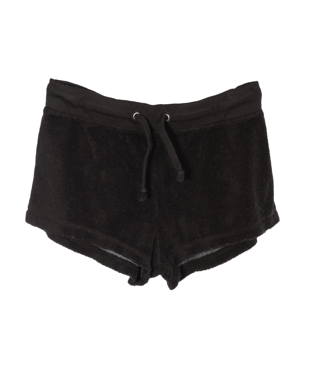 So Nikki Girls Black Terry Shorts