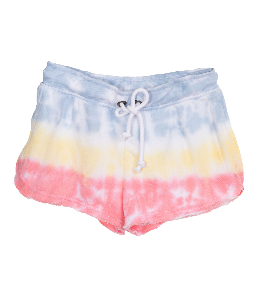 Katie J NYC Girls Lisa Pastel Tie Dye Shorts
