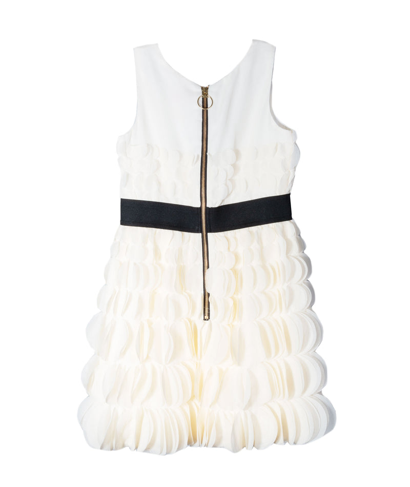 Zoe Ltd. Girls Ivory Ruffle Dress