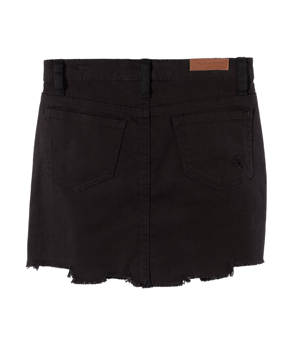 Pinc Premium Girls Black Distressed Denim Skirt
