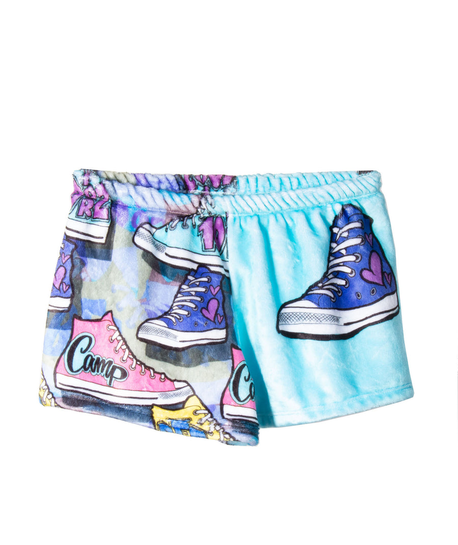 11d442fbbbe5 Fuzzy Camp Sneakers Pajama Shorts
