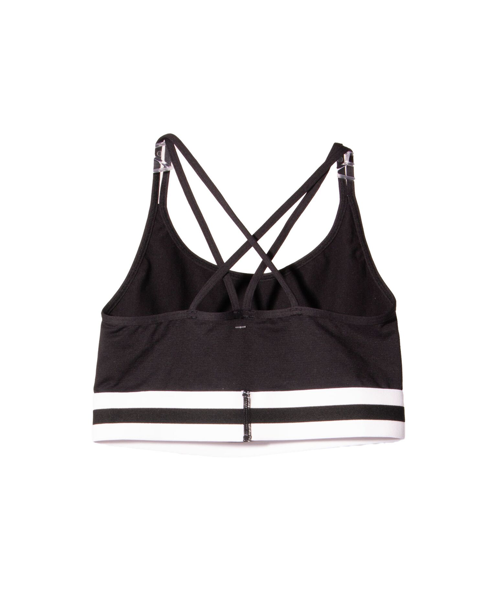 Malibu Sugar Black White Band Bra