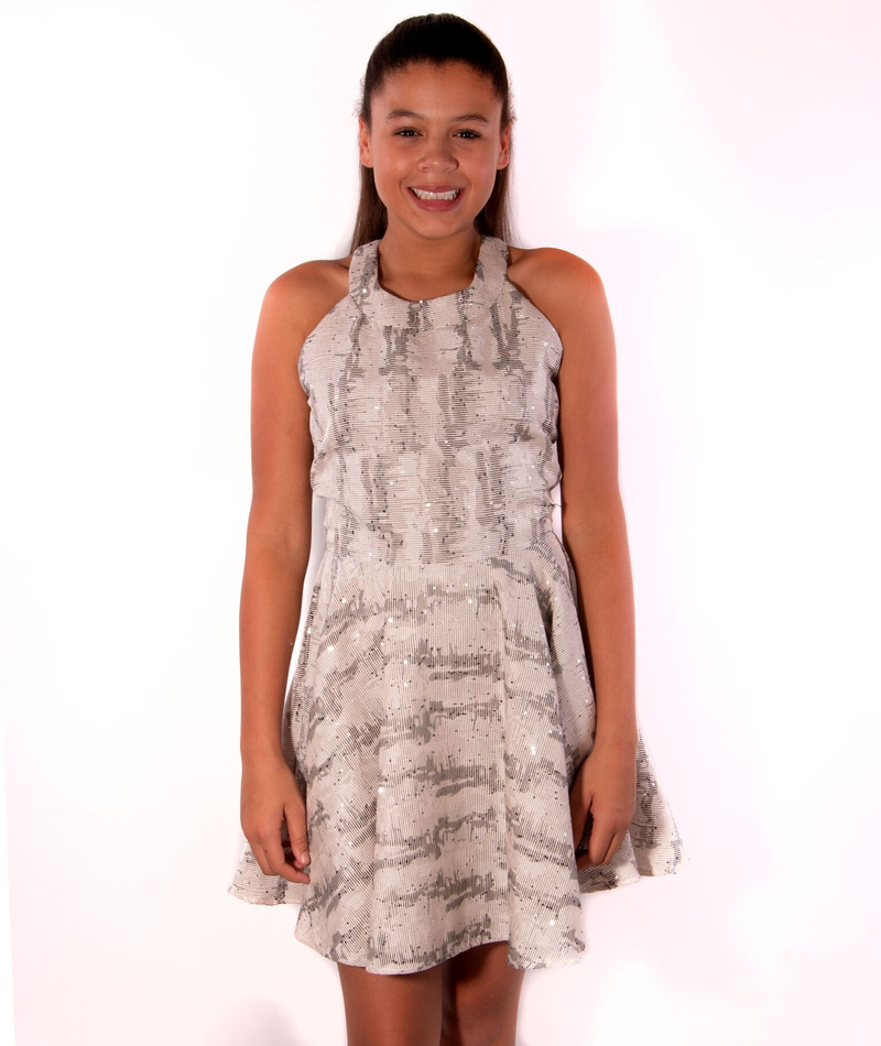 By Debra Girls Zig Zag Sparkle Dress