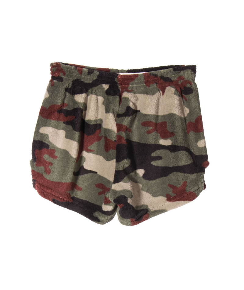 Made with Love and Kisses Girls Gold Lip Camo Shorts
