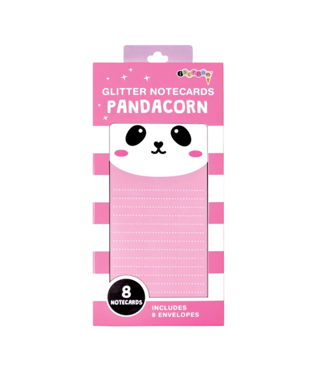 iScream Glitter Panda Notecards Stationery - Frankie's on the Park
