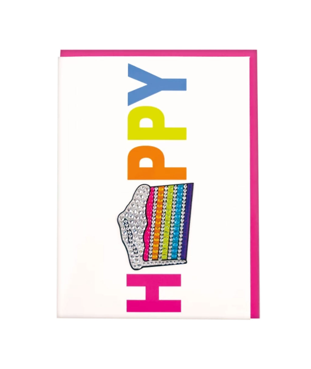 iScream Rainbow Rhinestone Happy Card