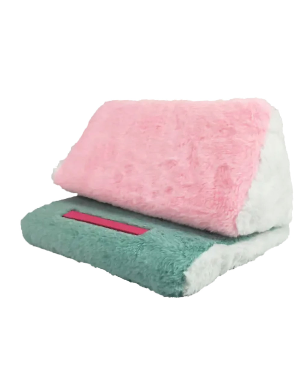 iScream Color Block Fur Tablet Pillow
