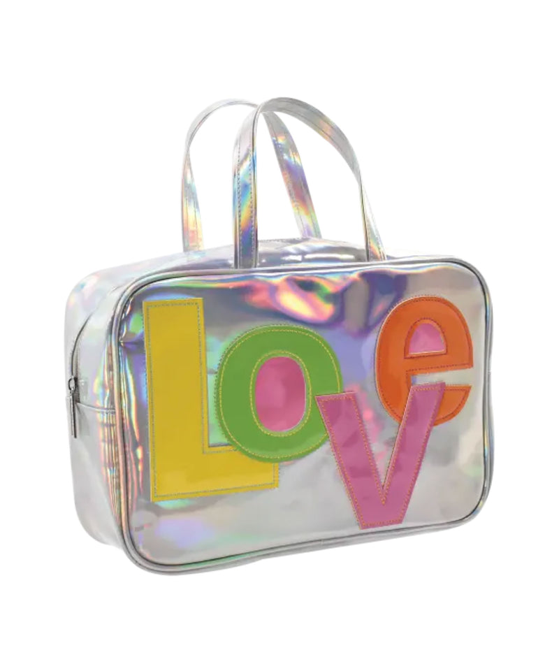 iScream Hologram LOVE Large Cosmetic Bag