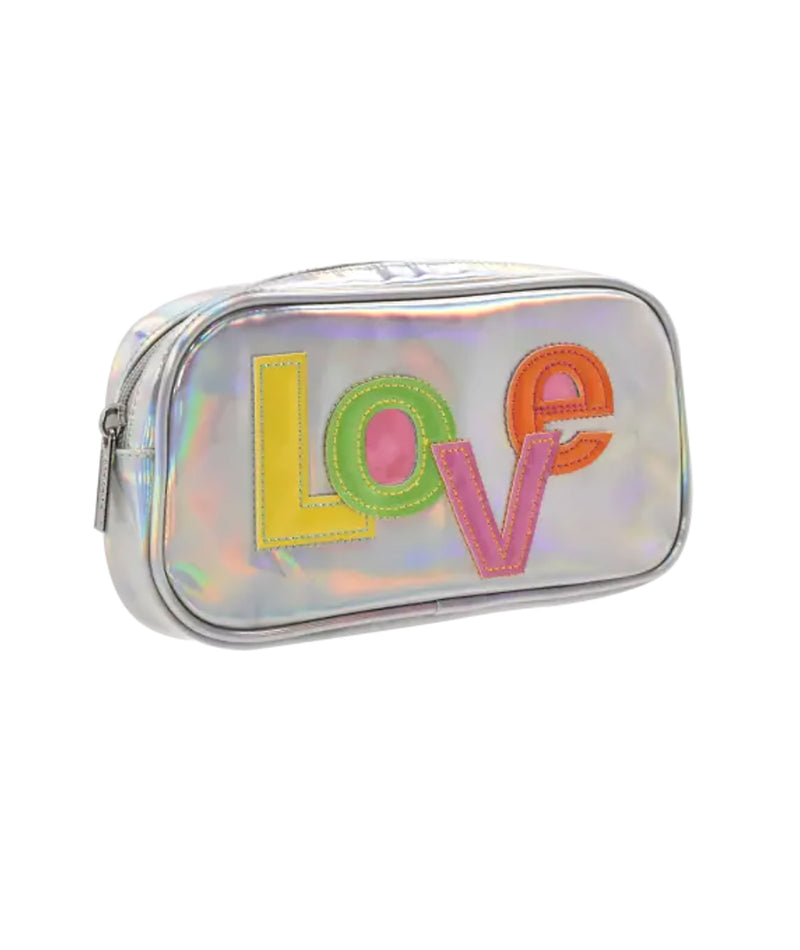 iScream Hologram LOVE Small Cosmetic Bag