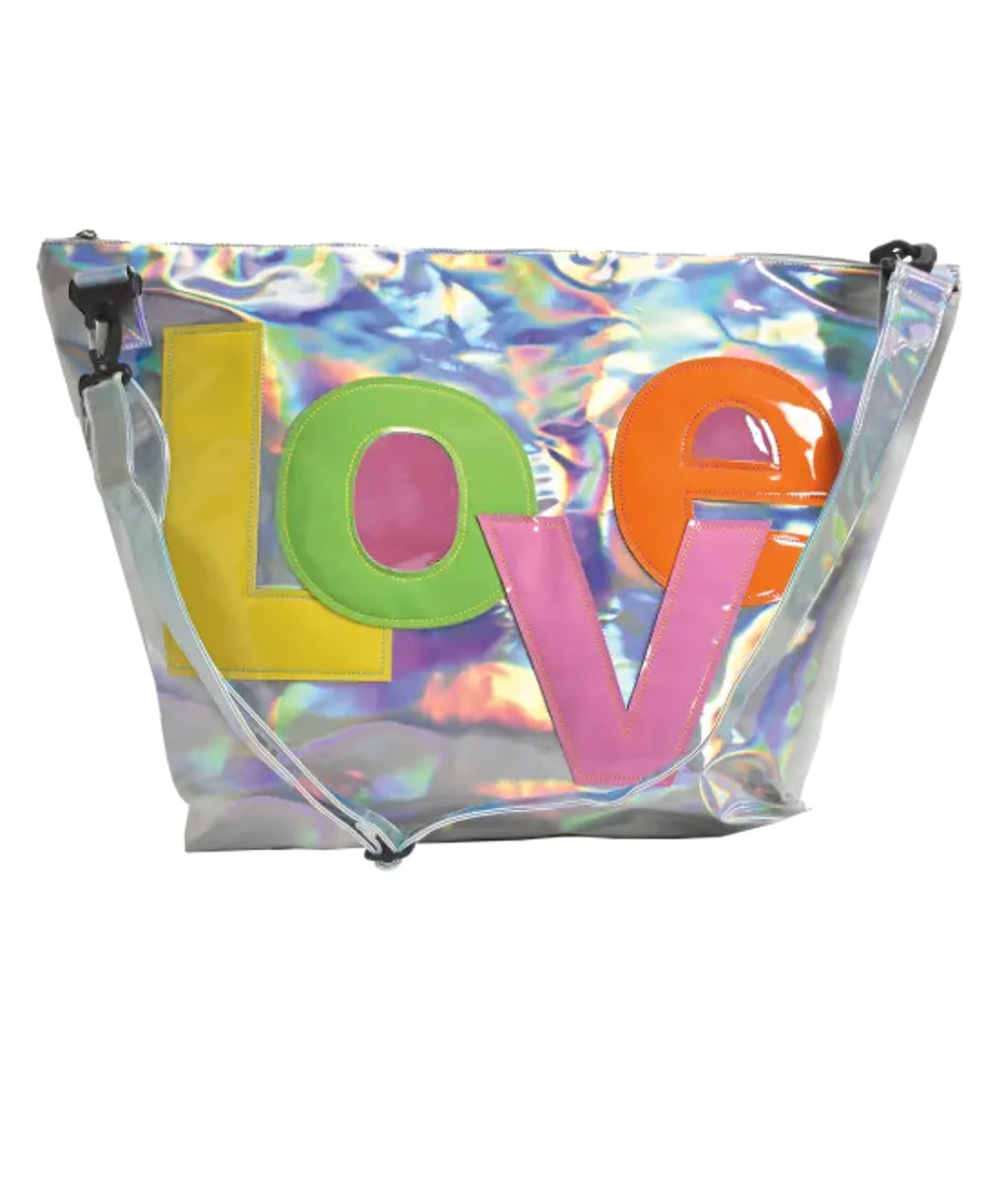 iScream Hologram LOVE Large Weekender Bag